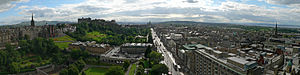 Princes Street - Panorama showing Princes Street from the Scott Monument.