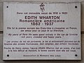 Edith Wharton plaque, 53 rue de Varenne, Paris 7.jpg