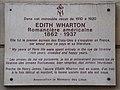 Edith Wharton plaque, 53 rue de Varenne, Paris 7.jpg