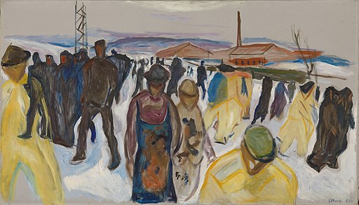 Edvard Munch - Workers Returning Home (1920)