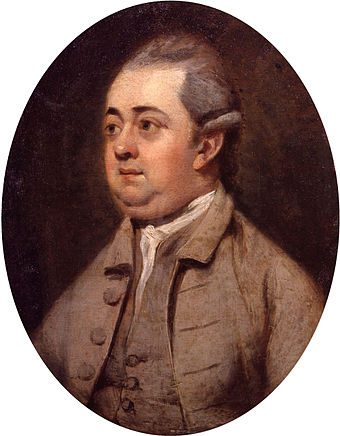 Edward Gibbon's Decline of the Roman Empire (1776) was a masterpiece of late 18th-century history writing. Edward Gibbon by Henry Walton cleaned.jpg