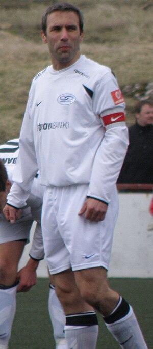 Egil á Bø - Egil á Bø while playing for EB/Streymur in 2010