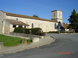 The church in Le Langon