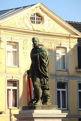 Lamoral, Count of Egmont - Image: Egmontstandbeeld, Markt, Zottegem, Vlaanderen, België 02