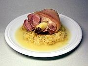 Pickled Eisbein, served with Sauerkraut