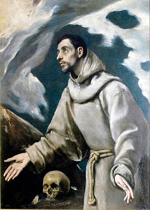 Siedlce - Ecstasy of St. Francis of Assisi, (ca.1580) by El Greco on display in the Diocesan Museum in Siedlce