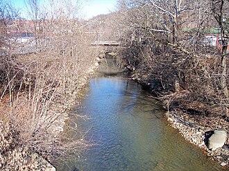 Elk Creek (West Virginia) - Elk Creek in Clarksburg in 2006