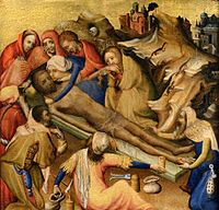 Embalming of the Body of Christ from triptych, Netherlandish (Bruges), c. 1410-20.jpg
