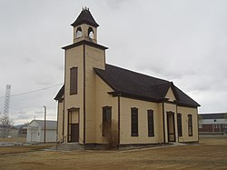 Emery LDS Church, built 1898−1900, is the oldest surviving religious building in town.