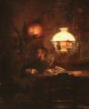 Emil Rosenstand, Maleren L.A. Ring på besøg hos kunstnerens far, Vilhelm Rosenstand.png