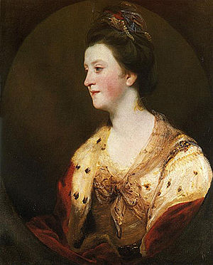 Emily FitzGerald, Duchess of Leinster - The Duchess of Leinster painted by Sir Joshua Reynolds in the 1770s.