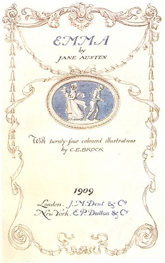 C. E. Brock - Title page of Brock's edition of Emma, 1909