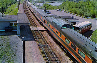 Empire Builder - The train at Winona Junction, Wisconsin in 1958