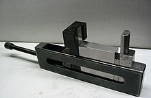 gauge blocks. a holder that turns stack of gauge blocks into an instant, custom caliper or go/no go gauge. s