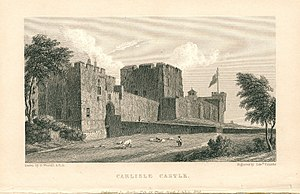 Carlisle Castle - An engraving of Carlisle Castle in 1829