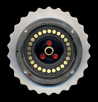 Enigma rotor details - Image: Enigma rotor flat contacts