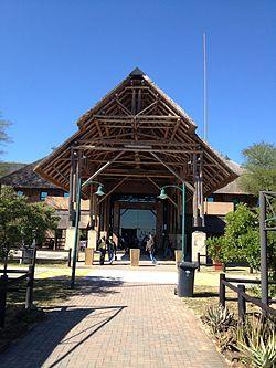 Entrada al Aeropuerto Internacional Kruger Mpumalanga en Nelspruit, Sudáfrica.JPG