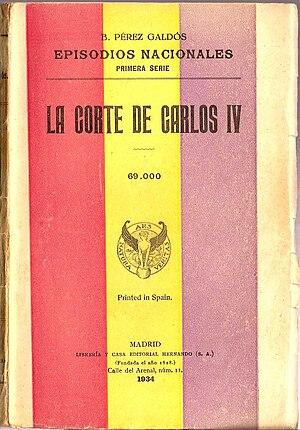 Episodios Nacionales-La Corte de Carlos IV-Hernando1934.jpg