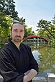 Eric Chevallier in front of Taiko bridge in Sumiyoshi Shrine.jpg