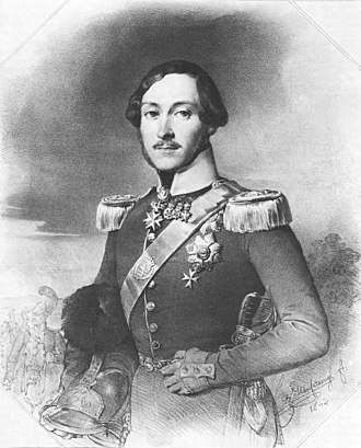 Ernest II, Duke of Saxe-Coburg and Gotha - A lithograph of Ernest, 1842
