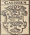 Escudo da Galiza em De insulis nuper inventis Ferdinandi Cortesii ad Carolum V (1532).jpg