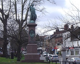Esher town in Surrey