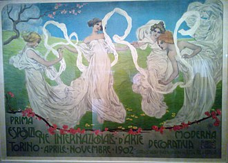 1902 in Italy - Poster International Exposition of Modern Decorative Arts