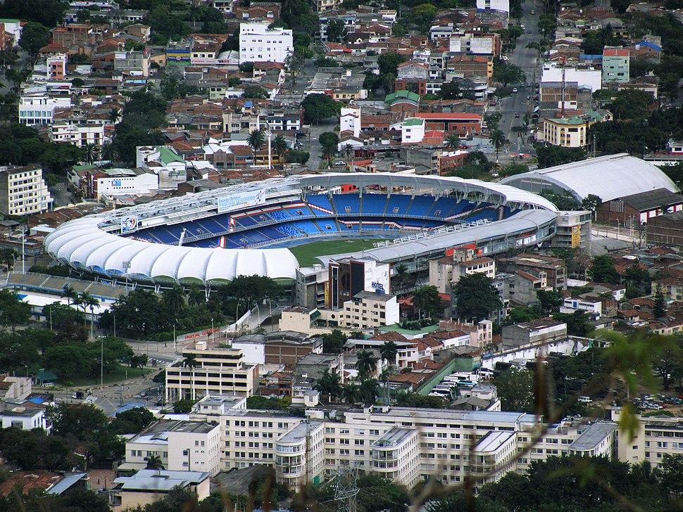 Estadio Pascual Guerrero visto desde Cristo Rey