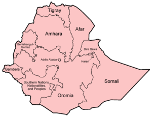Subdivisions of Ethiopia - The regions and chartered cities of Ethiopia