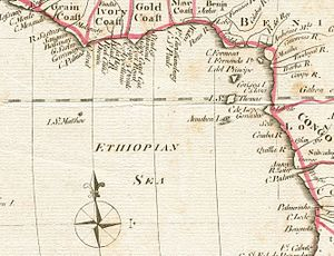 Aethiopian Sea - Ethiopian Sea section of Mathew Carey's 1795 Africa map.