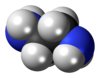 Spacefill model of ethylenediamine