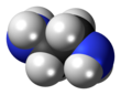Space-filling model of ethylenediamine