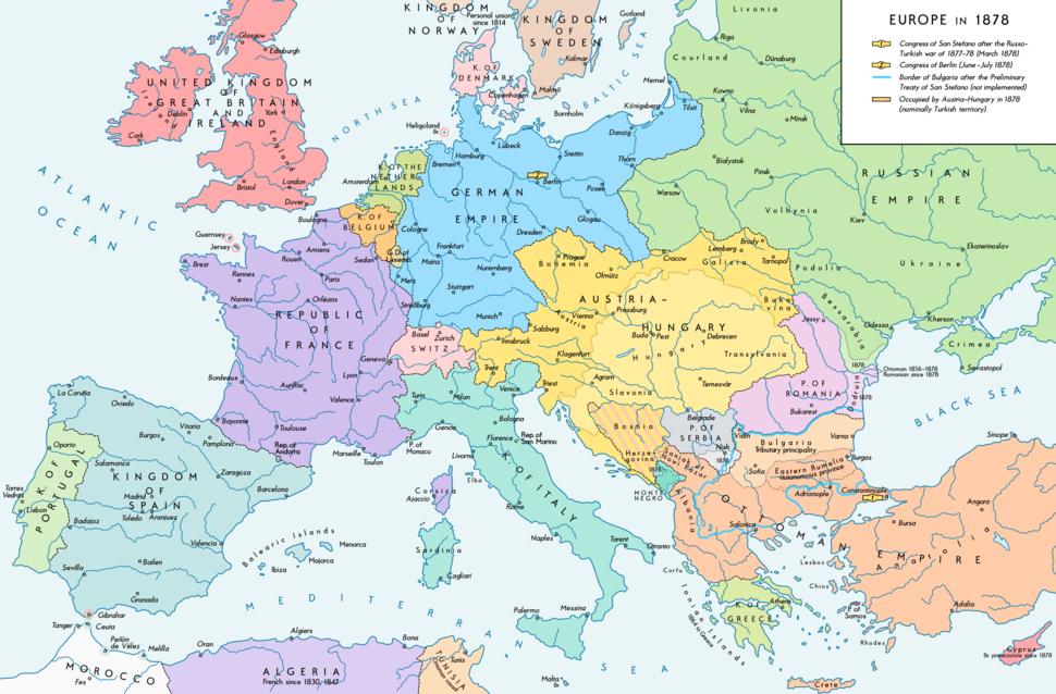 Europe 1878 map en