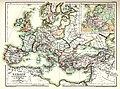 Europe at the time of the restoration of the Empire in the west by Otto the Great, 962.jpg