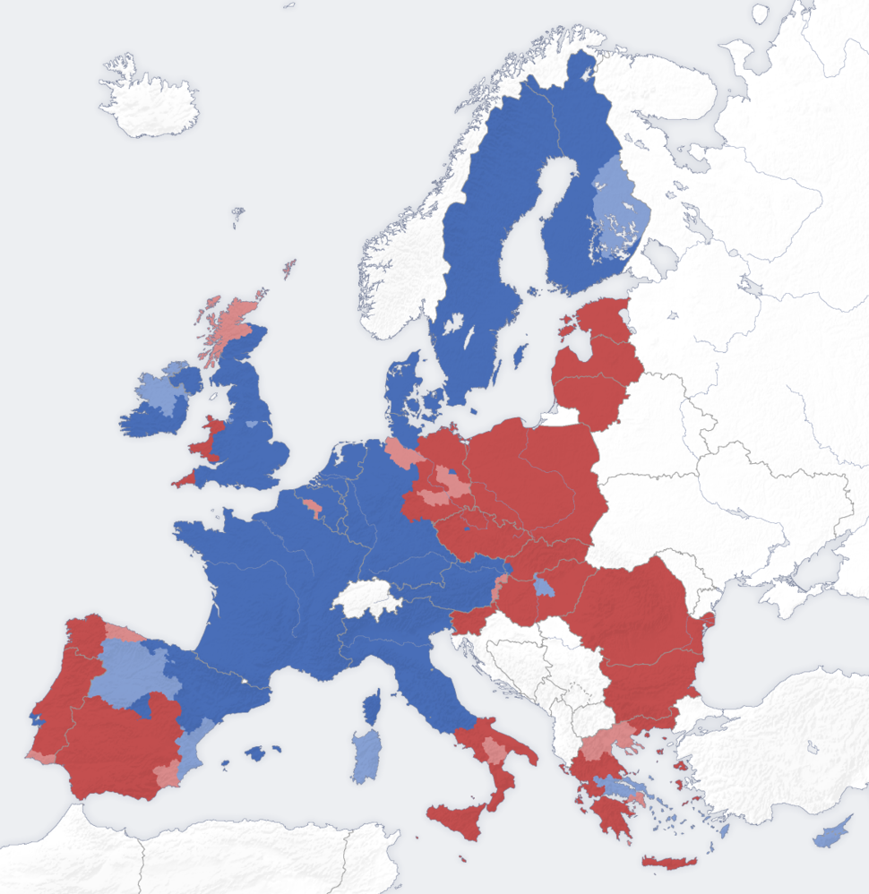 European union erdf map