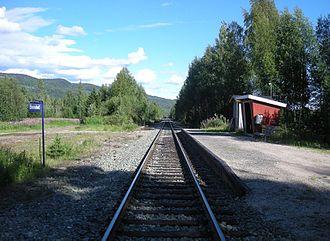 Røros Line - Evenstad Station in Stor-Elvdal
