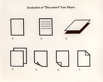 Xerox Star - Evolution of the used document icon shape