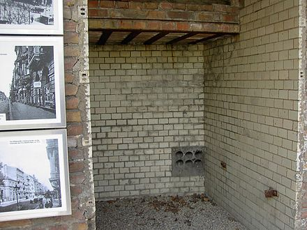 The cells of the Gestapo headquarters in Prinz-Albrecht-Strasse, where many of the July 20 plotters and other resistance activists were tortured Excavated cells from the basement of the Gestapo headquarters.jpg
