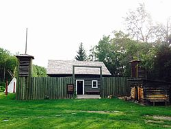Exterior of the 1973 replica of Fort Normandeau.jpg