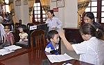 Eye screening for kindergarten children in Quoc Oai district of Hanoi (14124351607).jpg