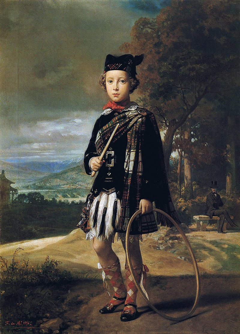F. de Madrazo - 1856, El niño Ángel García-Loygorri, con traje escocés (Colección particular, Madrid, 74 x 53 cm).jpg