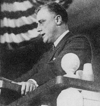1924 Democratic National Convention - Franklin D. Roosevelt placing Al Smith's name into nomination