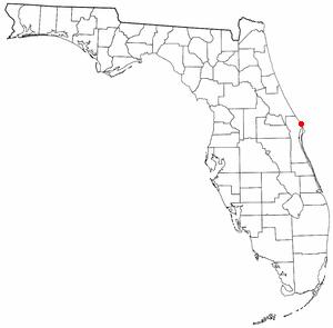Playalinda Beach (Florida) - Location of Playalinda Beach, Florida