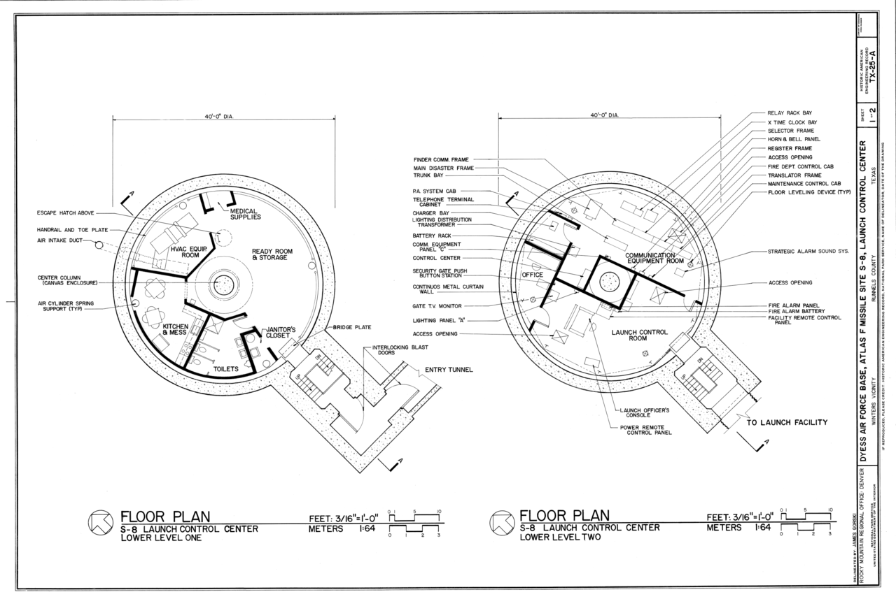 File Floor Plan Dyess Air Force Base Atlas F Missle Site S 8 Launch Control Center Lcc Approximately 3 Miles East Of Winters 500 Feet Southwest Of Highway 17700 Haer Tx 25 A Sheet 1,Table Engagement Decoration Ideas At Home