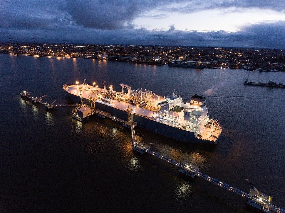 FSRU Independence in the port of Klaipėda, Lithuania