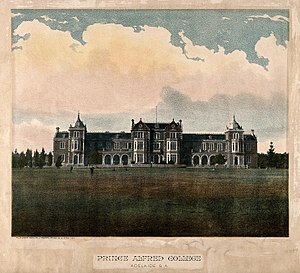 Prince Alfred College - Facade and grounds of PAC