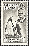 Gentoo penguins on a stamp by Leonard Fryer