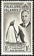 Eselspinguine auf einer Briefmarke von Leonard Fryer