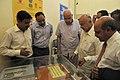 "Farooq Abdullah and the Union Power Minister, Shri Sushil Kumar Shinde visiting the ""100 kw Solar Air-Conditioning System"", at Gual Pahari, Dist. Gurgaon, Haryana on July 01, 2011.jpg"