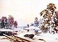 Ferdinand von Wright, Talvimaisema Haminalahdelta.jpg